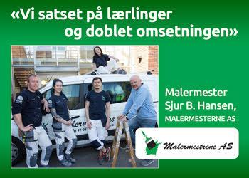 Satset på lærlinger - doblet omsetningen Malermester Sjur B. Hansen